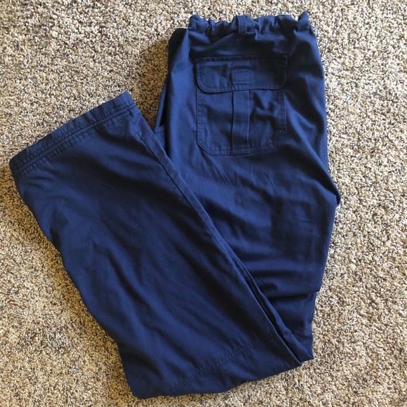 KOI Navy Blue Cargo Scrub Pants (tall)